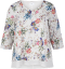 Bluse i allover blomsterprint