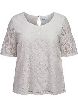 Short-sleeved lace blouse