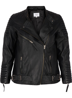 Detailed leather jacket