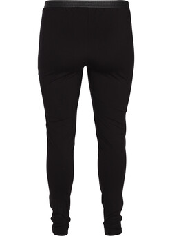 Leggings med læderlook