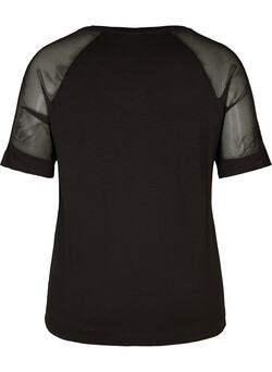 Trainingsblouse met korte mouwen