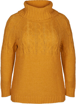 Knit blouse with wool